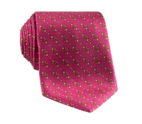 Silk Horse Motif Tie in Rose