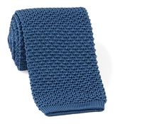 Classic Silk Knit Tie in Slate Blue