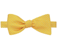 Silk Printed Dots Bow Tie in Marigold