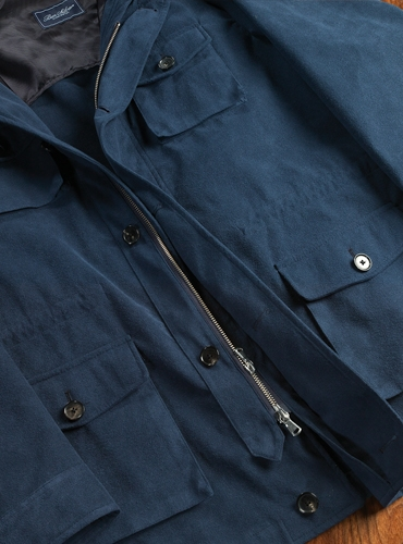 Ultrasuede Safari Coat in Navy