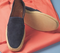 Men's Suede Espadrilles in Midnight