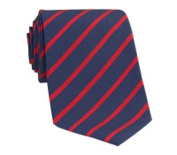 Mogador Bar Stripe Tie in Navy