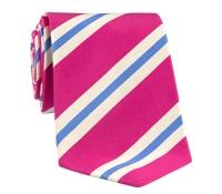 Mogador Silk Stripe Tie in Fuchsia