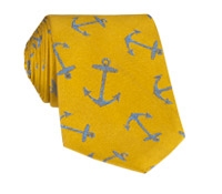 Silk Woven Anchor Tie in Sun