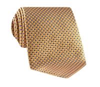 Basketweave Tie in Gold & Blue