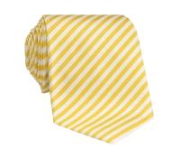 Silk Striped Tie in White and Sun