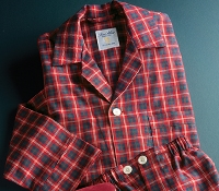 Brushed Cotton Red and Green Plaid Pajamas