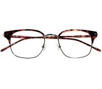 Traditional Brow Frame in Amber Tortoise