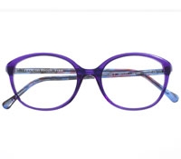 Round Cat-eye Frame in Violet