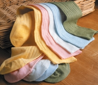 Linen Ribbed Socks