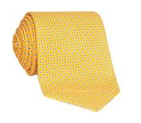 Silk Printed Dots Tie in Marigold