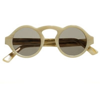 Francois Pinton Arched Sunglasses in Bone