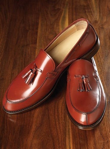 The Greensboro Tassel Loafer in Brick