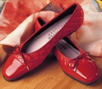 Quilted Flats in Red