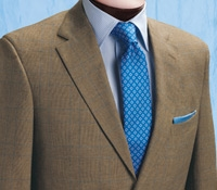 Cream, Straw, and Delicate Blue Glen Plaid Suit