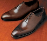 The Weymouth Oxford in Dark Brown, E width