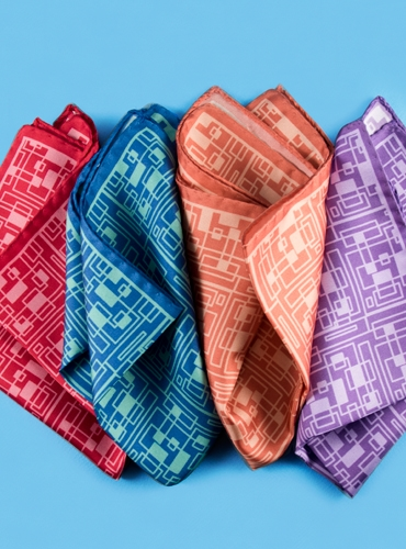 Silk Geometric Printed Pocket Squares