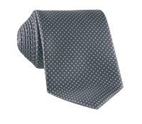 Silk Dots Tie in Stone Grey