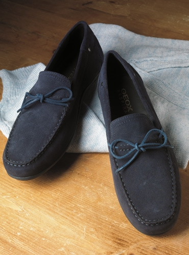 The Geox Moccasin Style Driver in Navy Suede
