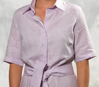 Purple Linen Shirt Dress