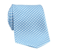 Silk Print Dot Motif Tie in Sky