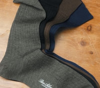 Short Wool Ribbed Dress Socks
