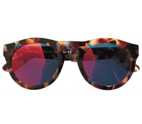 Large Bold Round Sunglasses in Multi Tortoise