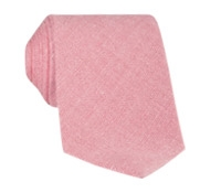 Shantung Silk Solid Tie in Pink