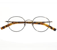 Round Wire Frame in Gold and Tortoise