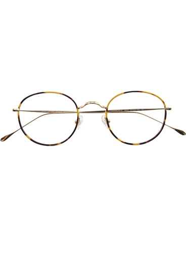 Round Titanium Frames in Gold and Tortoise
