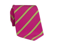 Mogador Bar Stripe Tie in Azalea