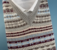 Fairisle Sweater Vest in Flannel