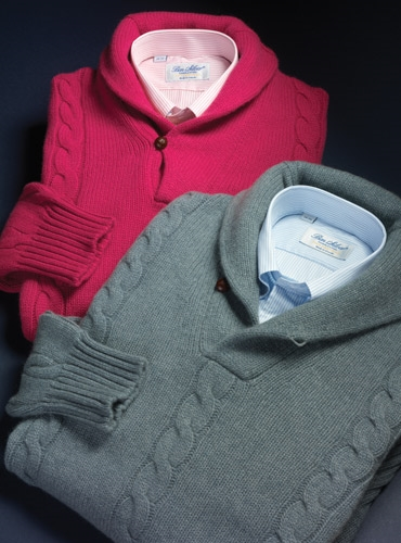 Cashmere Cable Shawl Pullover Sweater