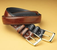 Burnished Calf Belts