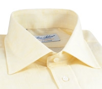 Butter Linen Spread Collar