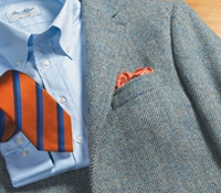 Atlantic and Sky Blue Harris Tweed Sport Coat