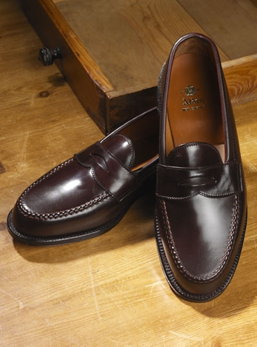 The alden penny loafer in cordovan for The alden