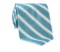 Silk Woven Double Stripe Tie in Jade