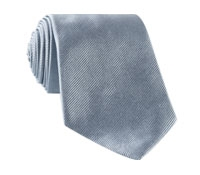 Silk Woven Solid Tie in Steel