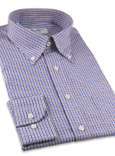 Red and Blue Check Button Down