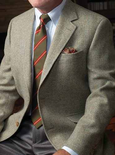 Sage and Cream Harris Tweed Sport Coat