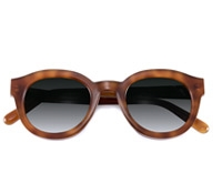 Thick Round Sunglasses in Amber