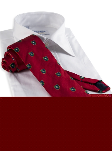 Silk Fanciful Crest Tie in Fire