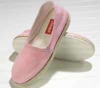 Pink Canvas Espadrilles with Rubber Soles