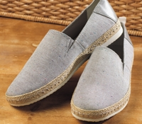 Geox Canvas Espadrille in Grey with Donegal Flecks