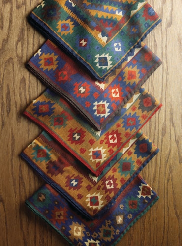 Wool & Silk Kelim Pocket Squares