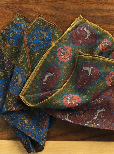 Wool and Silk Unicorn Pocket Squares