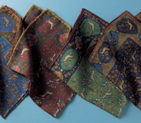 Wool and Silk Unicorn Pocket Squares