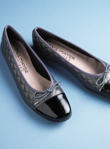 Quilted Flats in Pewter
