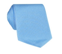 Silk Basketweave Solid Tie in Sky